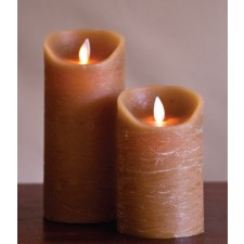 [LED 양초]FLAMELESS CANDLE TAUPE DISTRESSED - 회갈색 [5인치]