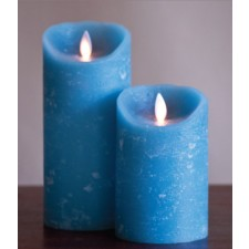 [LED 양초]FLAMELESS CANDLE BLUE DISTRESSED - 블루 [7인치]