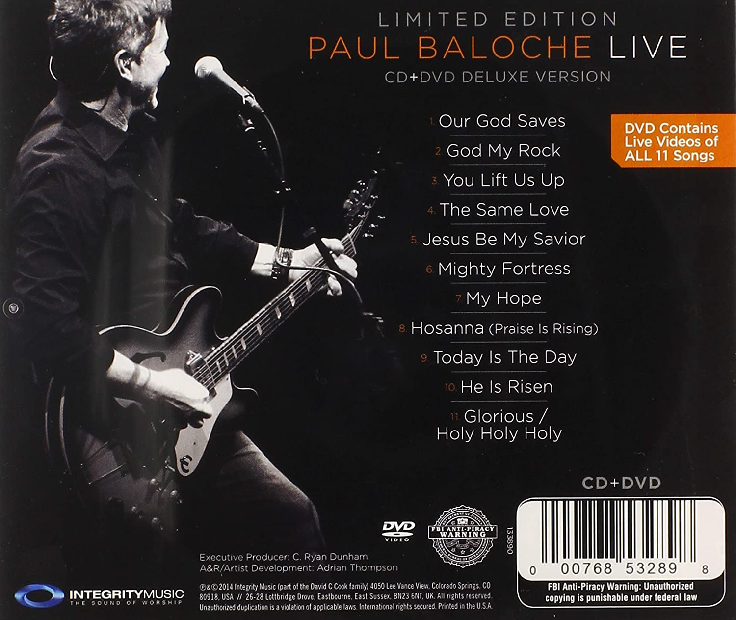 [이벤트30%]Paul Baloche - Live [Deluxe Edition] (CD+DVD)
