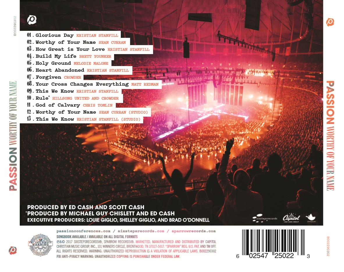 [이달의 아티스트]Passion 2017 - Worthy Of Your Name (CD)