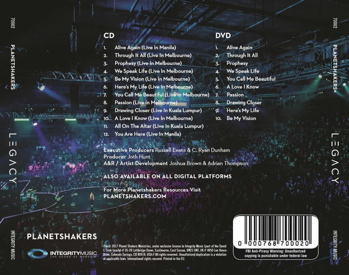 [이벤트30%]Planetshakers - Legacy (CD+DVD)
